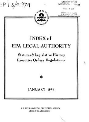 Index of EPA Legal Authority PDF
