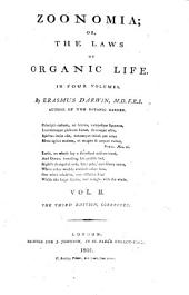 Zoonomia Or the Laws of Organic Life: Volume 2