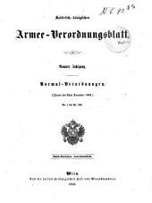 Verordnungsblatt für das k. u. k. Heer: Normal-Verodnungen, Band 1