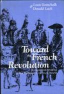 Toward the French Revolution