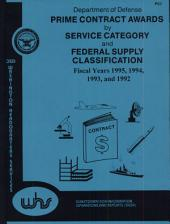 Department Of Defense Prime Contract Award By Service Category And Federal Supply Classification (fy 1992-1995)