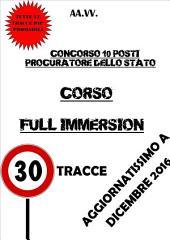 CORSO FULL IMMERSION - Concorso 10 Procuratori dello Stato