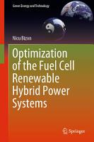 Optimization of the Fuel Cell Renewable Hybrid Power Systems PDF