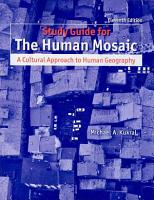 Study Guide for Human Mosaic PDF