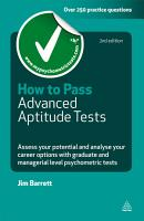 How to Pass Advanced Aptitude Tests PDF