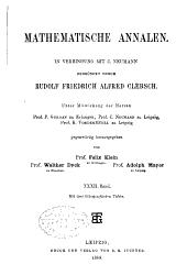Mathematische Annalen: Volume 32