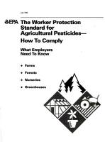 The Worker Protection Standard for Agricultural Pesticides  how to Comply PDF