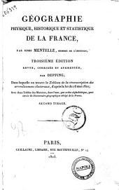 Géographie physique, historique et statistique de la France, par Edme Metelle ...