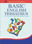 Basic English Thesaurus