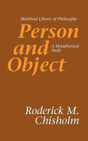 Person and Object