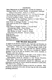 The Wilson Bulletin: Volumes 17-19