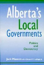 Alberta's Local Governments: Politics and Democracy