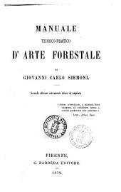 Manuale teorico-pratico d'arte forestale di Giovanni Carlo Siemoni