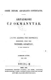 Codex diplom. arpadianus continuatus. Arpadkori uj okmanytar .. Harmadik kötet 1261-1272. (Neues Urkundenbuch aus der Zeit der Arpaden): 1A,8