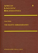 The Bantu Bibliography PDF