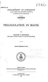Geodesy: Triangulation in Maine