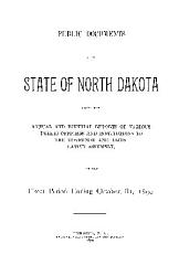 Public Documents Of The State Of North Dakota Book PDF