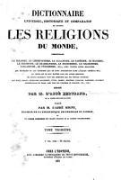 Dictionnaire universel  historique et comparatif de toutes les religions du monde PDF
