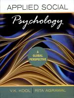 Applied Social PsychologyA Global Perspective PDF