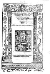 Opera: Cuius Universalem Indicem Proxime Sequens Pagina Monstrat, Volume 1