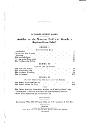 The Great American Fraud: Articles on the Nostrum Evil and Quackery Reprinted from Collier's