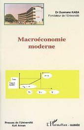 Macroéconomie moderne