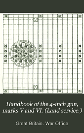 Handbook of the 4-inch gun, marks V and VI. (Land service.)