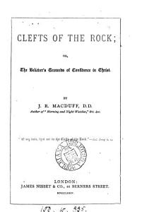 Clefts of the rock  or  The believer s grounds of confidence in Christ PDF