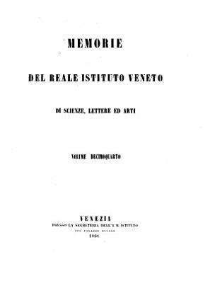 Memorie del Reale veneto istituto di scienze  lettere ed arti PDF