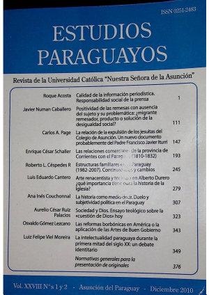 Revista Estudios Paraguayos   A  o  2010   Vol  28 N 1 y 2 PDF