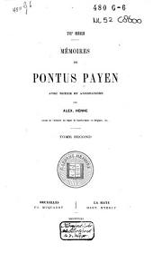 Mémoires de Pontus Payen: 1559-1578, Volume2