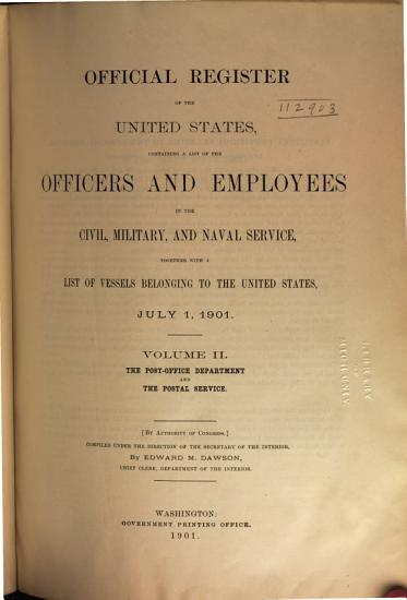 Official Register of the United States PDF