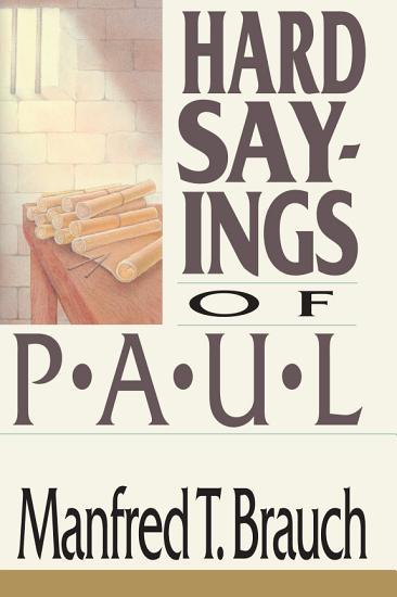 Hard Sayings of Paul PDF