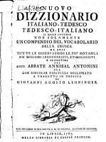 Nuovo dizzionario italiano tedesco  tedesco italiano     PDF
