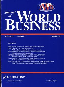 Journal of world business PDF
