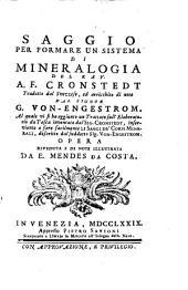 Saggio per formare un sistema di mineralogia