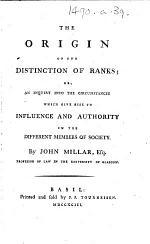 The Origin of the Distinction of Ranks, Etc