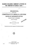 Hearings Regarding Communist Activities in the Territory of Hawaii PDF
