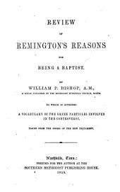 Review of Remington's Reasons for being a Baptist