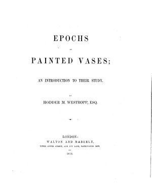 Epochs of Painted Vases  an Introduction to Their Study PDF