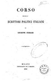 Corso sugli scrittori politici italiani