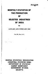 Monthly Statistics of the Production of Selected Industries of India PDF