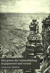 Das gesetz der wüstenbildung in gegenwart und vorzeit