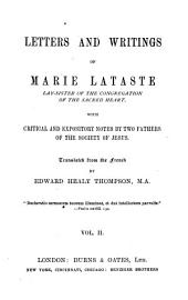 Letters and writings, with notes by two fathers of the Society of Jesus, tr. by E.H. Thompson: Volume 2