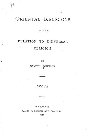 Oriental Religion and Their Relations to Universal Religion PDF