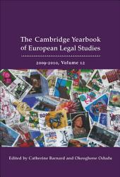 Cambridge Yearbook of European Legal Studies  Vol 12  2009 2010 PDF
