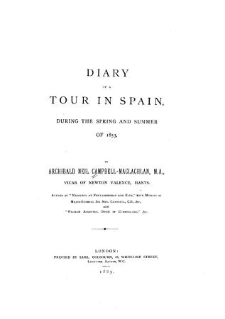 Diary of a Tour in Spain During the Spring and Summer of 1853 PDF