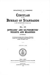Jewelers' and silversmiths' weights and measures