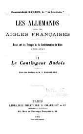 Les Allemands sous les aigles françaises: Le contingent badois