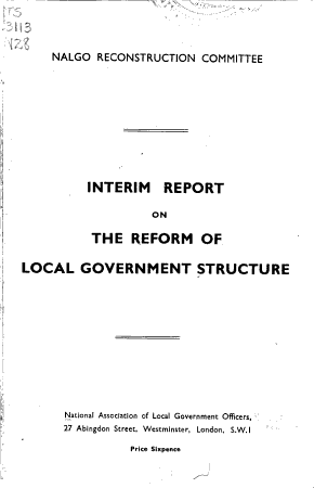 Interim Report on the Reform of Local Government Structure PDF